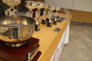 The Osgoode cup and the take home Trophies for 1st, 2nd, and 3rd.